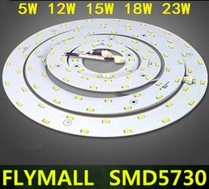 5W 12W 15W 18W 23W SMD 5730 LED Plafond Circulaire Lampe Magnétique Magnétique AC85-265V AC220V Anneau Rond Panneau LED Panneau avec Aimant