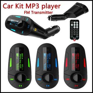 3 ألوان سيارة كيت مشغل MP3 سيارة لاسلكية راديو FM الارسال مع USB SD MMC + التحكم عن بعد DHL مجانا