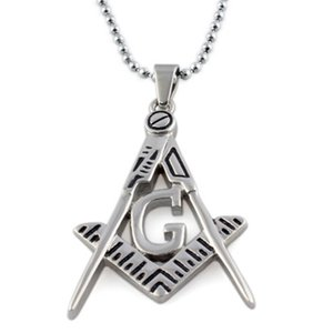 freemasonry Pendant necklace pendant Religious stainless steel jewelry pendant necklaces Christmas gifts