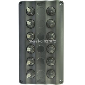 NEW TOGGLE SWITCH PANEL 6 GANG LED 방수 / 보트 / 요트 회로 차단기