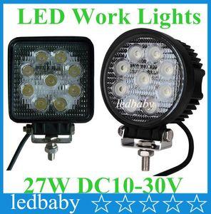 """30 pz 12 V 24 V 4 """"4 pollici 27 W Spotlight Floodlight auto Trattore Camion SUV barca 4x4 4WD Jeep Offroad guida LED lavoro lampadine bar"""