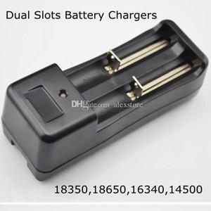 18350 18650 li-ion battery EU 미국 충전 이중 듀얼 슬롯 충전기 E 담배 DHL에 대 한 보편적 인 충전식 리튬 이온 배터리 충전기