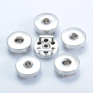 Серебряный сплав 18 мм Noosa Nosa кусок имбирь Snap база сменные аксессуары для ювелирных изделий Snap Button Base DIY ювелирных аксессуаров
