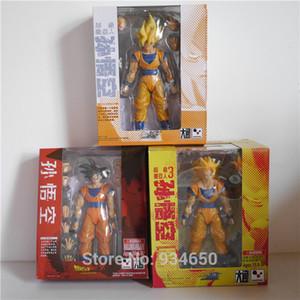 Datong Dragon Ball Z Super Saiya Goku SHF Figura de Ação Toy SS3 Goku SS1 Goku Goku Modelo de Cabelo Preto brinquedo Clássico