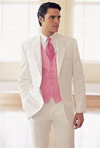 Erkekler Ceket Takım Düğün Için Smokin Damat Giymek Yüksek Kaliteli Terzi Takım Elbise Beyaz Yün Bleed