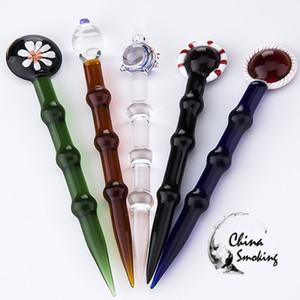 Glass Dabber Tool für Öl- und Wachs-Bohrinseln Dab Stick Carving-Werkzeug