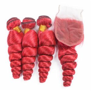 مصنع الجملة جودة عالية 3 حزم اللون الوردي الجسم موجة البرازيلي نسج الشعر مع 4 * 4 الرباط اختتام شعري الطبيعي شعر الطفل 9A