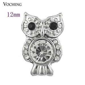 Petite Noosa Chunks Owl Style 12mm Pequeño botón a presión Bisutería DIY Noosa Jewelry Accesorio (Vn-239)