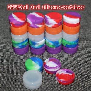 Accessori per sigarette elettroniche Contenitore antiaderente in silicone da 3ml per cera Bho Oil Vaporizzatore al butano 3ml Silicon Jars Dab Wax Container rigs
