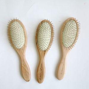 Spazzola per massaggio estensioni dei capelli Massaggio con manico in legno Massaggio con puntina in metallo
