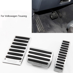For VW Touareg AT 2007-2017 Pedal Cover Fuel Gas Brake Foot Rest Housing No Drilling Car-styling