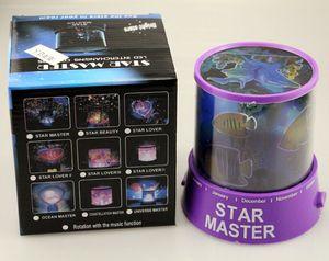 Colorido Sky Star Proyector Luz nocturna Niños regalo de la novedad Lámpara de estrella estrellada Decoración de techo de pared para regalos románticos Envío gratis