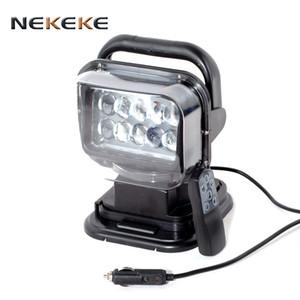 2017 Venta caliente de alta calidad Luz de trabajo de control remoto Lámparas de niebla 50W Luz de punto de búsqueda LED inalámbrica automática