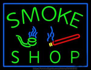 """Heißer Rauch Shop Bar Leuchtreklame Real Glasrohr Zeichen Shop Display Werbung Zeichen LED Leuchtreklame 17 """"X14"""""""