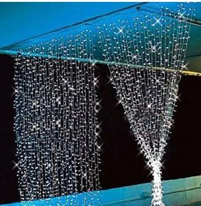 280 LED Curtain Light 3m*2m 110- 220V Christmas Xmas Outdoor LED String Fairy Lights Wedding Party Decoration Lamps au eu us uk plug