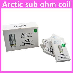 Transporte rápido Horizon Tech ártico atomizador Sub ohm BTC Bobina e bobina BTDC 0.2 0.5 1.2ohm bobinas para tanques de atomizadores árticos Qualidade 0202035
