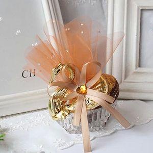 Spezielle Silber Gold Swan Hochzeit Candy Box Mit Champagner Gaze Jewely Box Baby Shower Sweetbox Hochzeit Gefälligkeiten halter