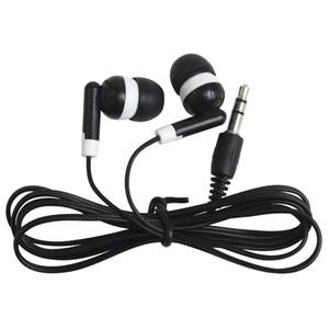 Universal-preiswertester schwarzer Wegwerfbilliger In-Ohr Earbuds-Kopfhörer für IPhone 7 6 5 Kopfhörer MP3 MP4 3.5mm Audio 100Pcs / Lot DHL geben frei