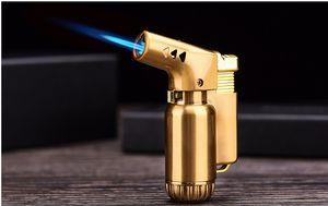 높은 품질 부탄 제트 불꽃 토치 라이터 Windproof 시가 라이터 용접 총 리필 부탄 가스 라이터