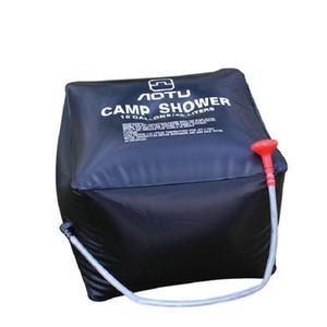 Nuevos bolsos de ducha para acampar al aire libre Escalada Senderismo Mochila 40L Bolsa de agua portátil Baño exterior Envío gratis