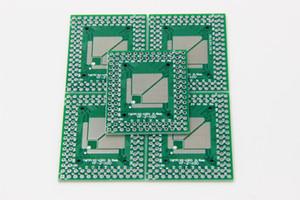 5 adet QFP TQFP LQFP TQFP32 TQFP44 TQFP64 TQFP80 TQFP100 0.5 MM 0.8 MM Pitch IC adaptörü Soket Adaptör plakası / PCB