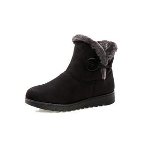 Neue Design Frauen Winter Warm Warm Gemütliche Schuhe Stiefeletten 2017 Mode Flache mit Warm Casual Damen Schnee Stiefel
