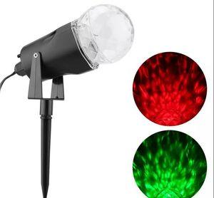 Mené en rotation avec projection de lumière Flamme Éclairages Projecteur Noël en plein air Projecteur LED Night Light lampe vague d'eau Lampe de pelouse LLFA