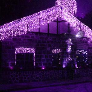 Luci di Natale Droop 0.4-0.6m Lunghezza 4M Cortina di ghiacciolo String Led Luci AC110V 220V Per Outdoor Capodanno Giardino Xmas Wedding
