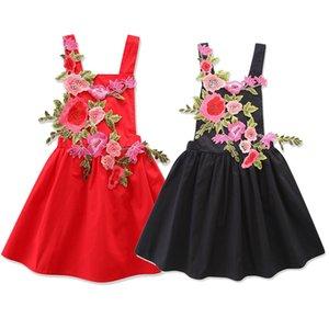 Niñas de verano Vestido de princesa de rosas 3D INS flores de niños niños vestidos de Navidad C3092