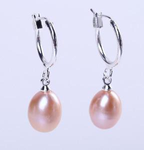 Heißer Verkauf Mode Reis geformte natürliche Perle Ohrringe