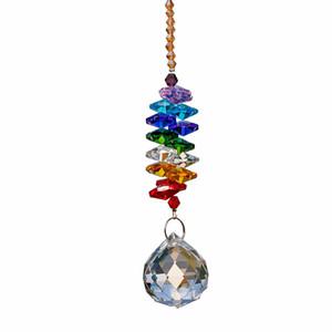 24 cm Candelabros Cristais Bola Prism Pingente Rainbow Maker Chakra Cascata Suncatcher decoração de Casa