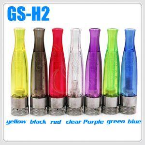 Высочайшее качество GS H2 Clearomizer восстанавливаемые катушки распылитель GS-H2 Нет фитиль Нет горения продать электронную сигарету электронная сигарета Эго паровой аккумулятор бак DHL