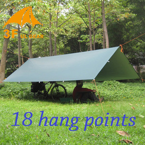 Wholesale- 3F UL Gear Ultralight Tarp Outdoor Camping Survival Sun Shelter Shade Awning Silver Coating Pergola Waterproof Beach Tent