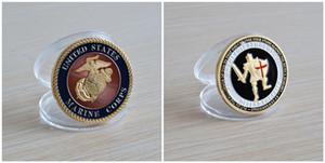 Ücretsiz Kargo 5 adet / grup, ABD. Deniz Piyadeleri / Tanrı'nın Zırhı - USMC Brass Challenge Coin