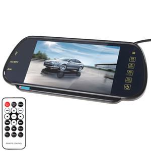 Nueva Llegada de 7 Pulgadas TFT Color LCD MP5 Coche Espejo Retrovisor Monitor Soporte SD USB CMO_382