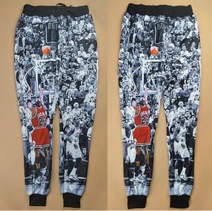 Pantaloni da jogging / pantaloni da uomo di nuova moda stampa 3D Pantaloni da allenamento da basket The Last Shot, pantaloni invernali da jogging autunno / inverno