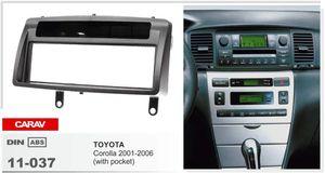 CARAV 11-037 Car Stereo Radio Fascia Panel Panel Kit de marco para TOYOTA Corolla 2001-2006 Stereo facia envolvente instalar instalar ajuste Dash Kit