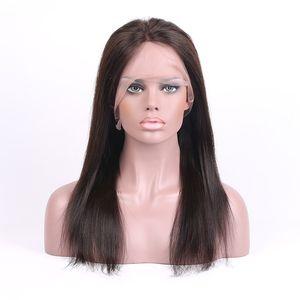 10A 100% reines Menschenhaar Volle Spitze Perücken Brasilianische Peruanische Malaysische Indische Kambodschaner Gerade Glueless Lace Front Perücken Für Schwarze Frauen