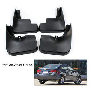 Mud Flaps defensa de los guardabarros de chapoteo para 2009-2013 Chevrolet Chevy Cruze flexible de plástico de color Negro