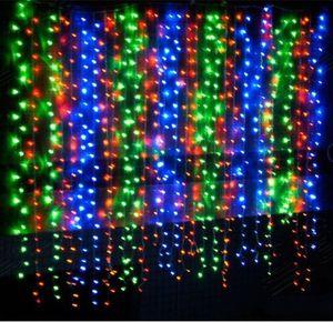 Дешевая цена 5m * 3M 500LED Star Curtain RGB Color LED Stage background цветные шторы для ночного клуба с контроллером 110v-240v