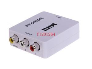 DHL libera el envío HDMI2AV 1080P HD Adaptador de video mini HDMI a AV Converter CVBS + L / R HDMI a RCA, 20pcs / lot