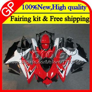 Cuerpo para SUZUKI GSXR750 08 09 10 K8 GSXR 600 08 09 10 26GP10 Rojo blanco GSX-R750 GSX-R600 GSXR 750 GSXR600 2008 2009 2010 Motorcycle