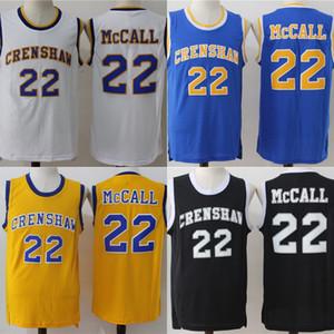 Mens LOVE 및 BASKETBALL MOVIE JERSEY QUICKY McCALL CRENSHAW 모니카 라이트 100 % 스티치 농구 유니폼 고품질