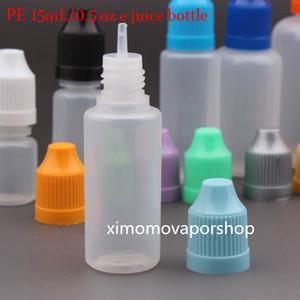 wholesale Package Bottle Electronic cigarette oil Bottles Empty Dropper Bottle 15ml E Liquid Bottle Free Shipping