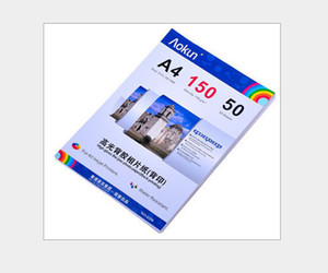 عالية اللمعان الخلفي ورقة طباعة الصور الفوتوغرافية A4 150G 50 ورقة النافثة للحبر ورق الصور الفوتوغرافية ورقة للماء النافثة للحبر