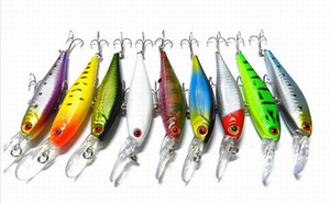 HOT 20PCS 10CM 9.6g 3.93in 0.33oz Minnow lure fishing bait Hard Baits 9color built-in ball Artificial Fishing Lure Sea Bionic High-quality!