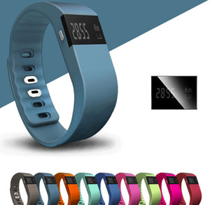 Cristmas TW64 Nueva pulsera de 12 colores Smart Band Fitness Activity Tracker Bluetooth 4.0 Smartband Pulsera deportiva para iOS Mobilephone