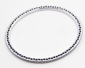 Высокое качество стерлингового серебра 925 мерцание навсегда браслет с ясно CZ баррель застежка для европейских подвески и бусины