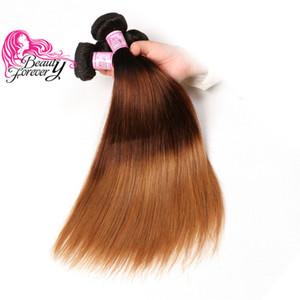 Güzellik Sonsuza Ombre Düz Brezilyalı İnsan Saç 16-26 inç T1B / 4/27 Demetleri 1 Parça Işlenmemiş Remy Saç Uzatma Güzel Renk Toplu Saç