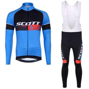 Scott 2017 Pro squadra ciclismo maglia Maillot ciclismo abbigliamento ciclismo ropa ciclismo manica lunga abbigliamento ciclismo con pantaloni lunghi Set K1402